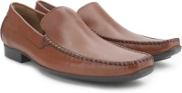 Ruosh Men Genuine Leather Slip On Shoes(Tan)