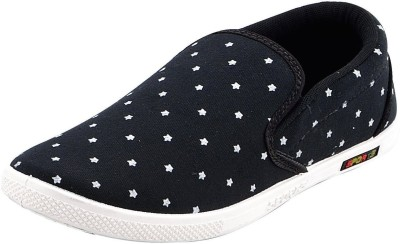 Chevit Black Star Canvas Shoes