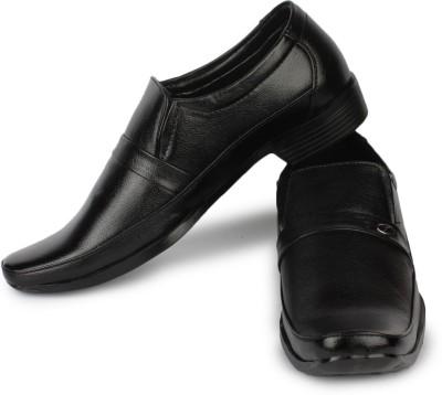 Street Walk Black Formal Shoes Slip On