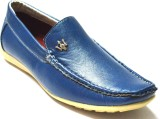 BLK LEATHER Loafers (Blue)