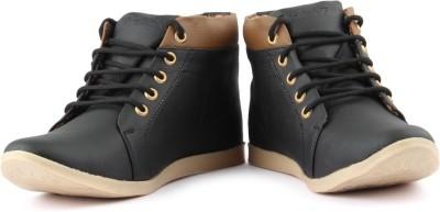 Anupamaa Anupamaa Stylish High toe Black Boots Boat Shoes