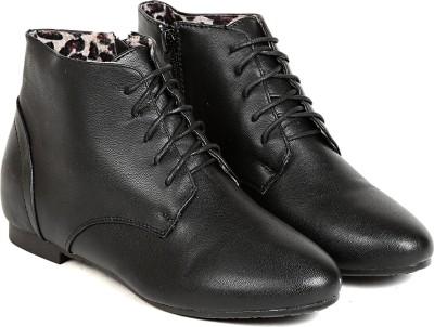 TEN TEN Womens Black Ankle Length Boots Boots