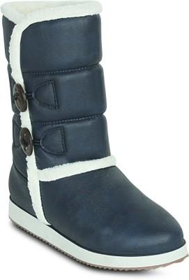 Get Glamr Designer Uggy Boots(Blue) at flipkart
