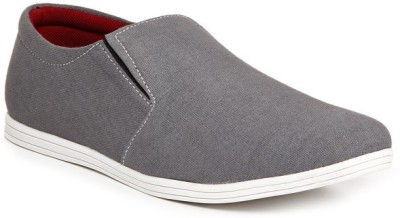 Zapatoz Grey Canvas Loafers