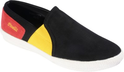 Pinellii Bravn Slip On Black Casual Shoes(Black)