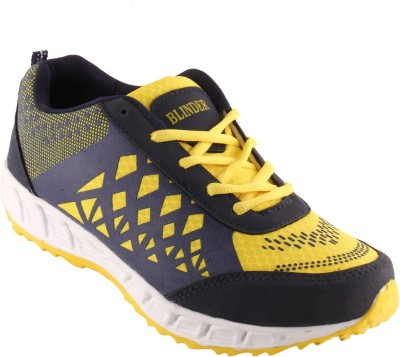 Blinder Men's CR-001-YELLOW-N.-BLUE Running Shoes