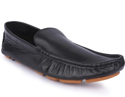 Buckleup MENS LEATHER SHOES BUPD-11_BLACK-Size-10 Loafers(Black)