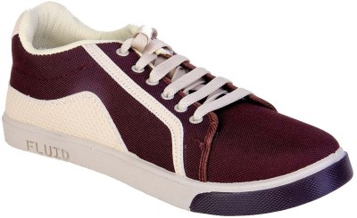 Fluid Brown Canvas Shoes