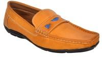 Raja Fashion Synthetic Tan Loafers(Tan)