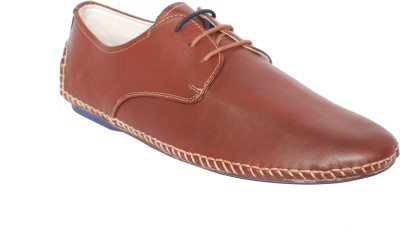 Styfort Brown Genuine Leather Casual Shoe