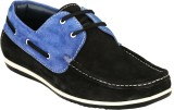 GAI Black Leather Loafers (Black)