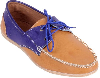 Goyal Tan Laced Boat Shoes