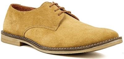 Nudo Plain Beige Corporate Casual Shoes