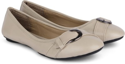 Chemistry Buckle Top Ballerinas(Beige)