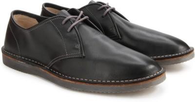 Clarks Darning Walk Black Leather Sneakers