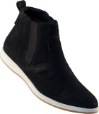 Tanny Shoes Leather Casual Boots (Black)