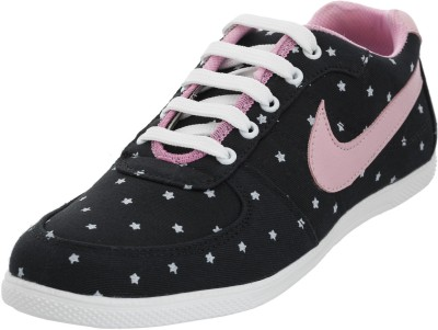 Advin England Black & Pink Lace Style Shoes Sneakers