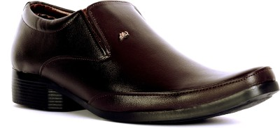 Sam Stefy Brown Formal Slip On Shoes