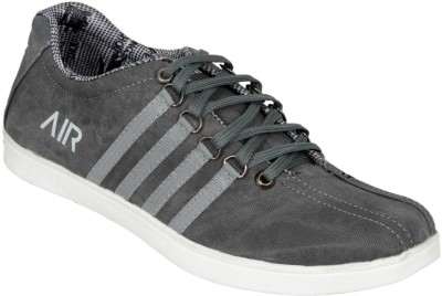 Ztoez Grey Canvas Shoes