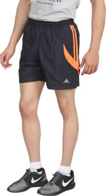 Hannspree Solid Men's Dark Blue, Orange Gym Shorts