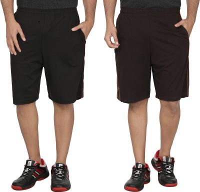 SST Solid Men's Black Basic Shorts