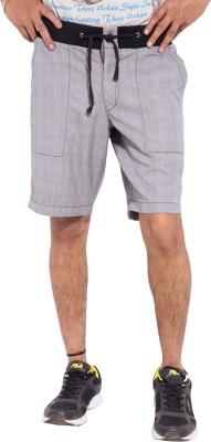 Tam Creatio Checkered Men's Grey Basic Shorts
