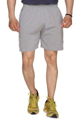 SayItLoud Solid Men's Grey Gym Shorts