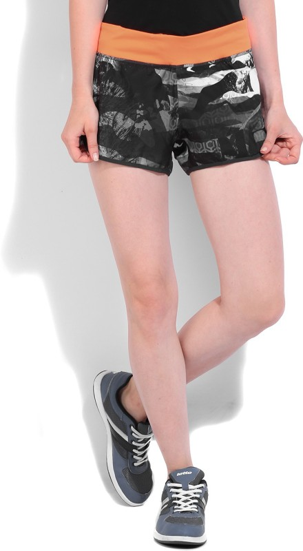 Reebok Printed Women's Black Sports Shorts