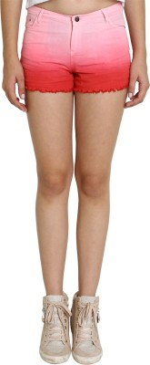 SMART DENIM Woven Women's Pink Denim Shorts