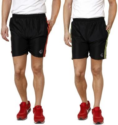 Gen Solid Men's Orange, Yellow Gym Shorts