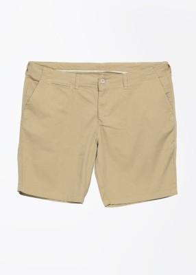 John Players Solid Men's Beige Basic Shorts
