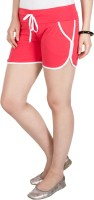 Campus Sutra Solid Women's Red Basic Shorts best price on Flipkart @ Rs. 419