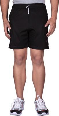 Black Casual Solid Men's Black Sports Shorts, Night Shorts, Cycling Shorts, Basic Shorts