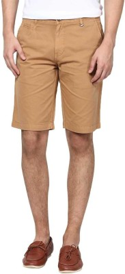Zess Solid Men's Beige Basic Shorts