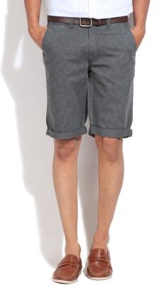 Jeanswest Australia Printed Men's Grey Basic Shorts