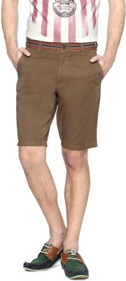 Allen Solly Solid Men's Brown Basic Shorts