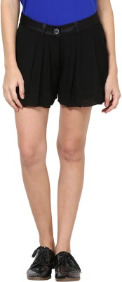 Species Solid Women's Black Culotte Shorts