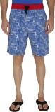 JadeBlue Printed Men's Blue Boxer Shorts