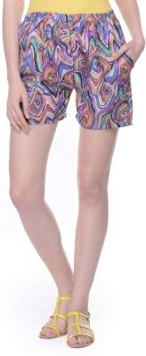Lavennder Printed Women's Multicolor Basic Shorts