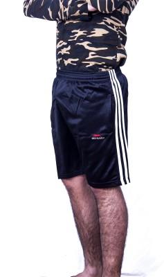 Khaiber Solid Men's Black Gym Shorts