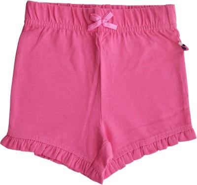 Babeez World Solid Baby Girl's Pink Basic Shorts