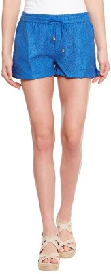 The Vanca Solid Women's Blue Basic Shorts