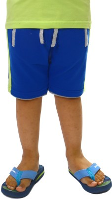 Bio Kid Solid Baby Boy's Blue Basic Shorts