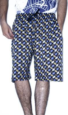 Khaiber Printed Men's Multicolor Baggy Shorts