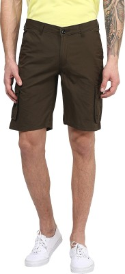 Silver Streak Solid Men,s Dark Green Cargo Shorts