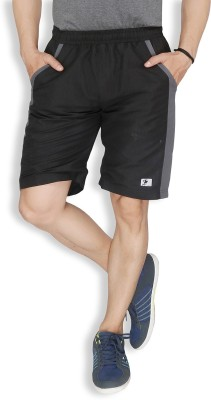 Live In Solid Men's Black Sports Shorts