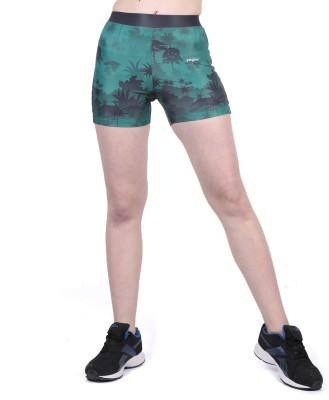 Yogue Printed Women's Green, Grey Gym Shorts