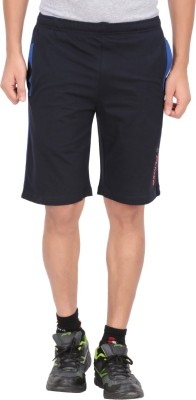 Indian Engineer Solid Men's Dark Blue, Blue Basic Shorts