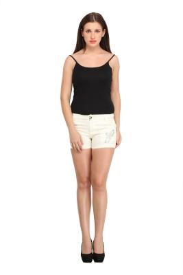Star Style Solid Women's White Basic Shorts at flipkart