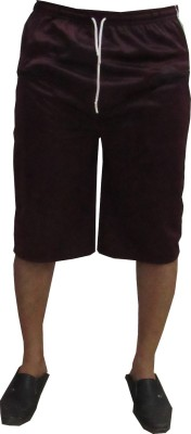 Revinfashions Solid Men's Maroon Gym Shorts